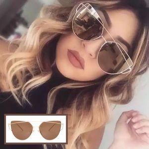 Accessories - 🆕 Cat Eye Aviator Mirrored Sunglasses